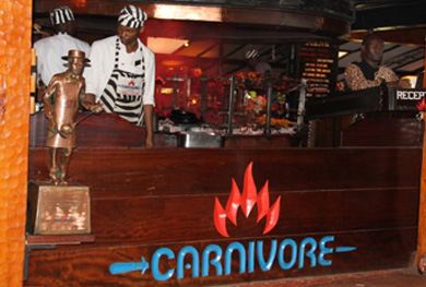 The carnivore restaurant Nairobi