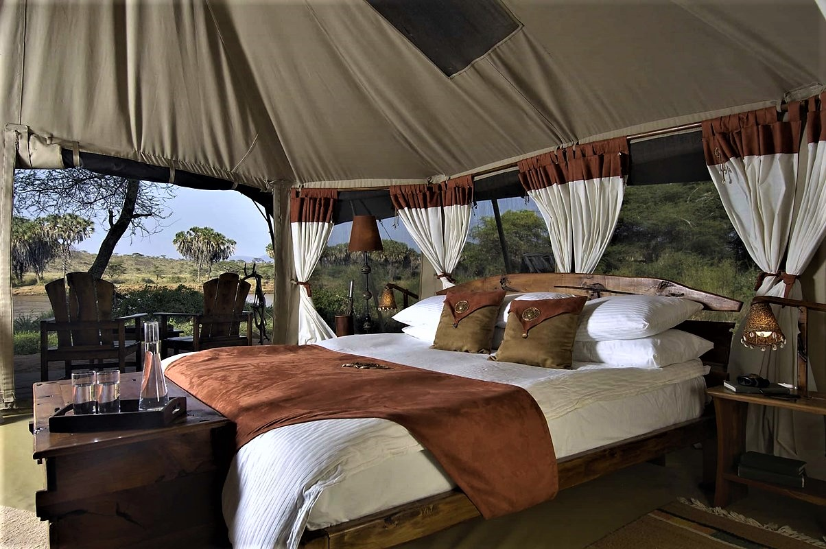 9 days Kenya Safari Elephant Bedroom Luxury Camp