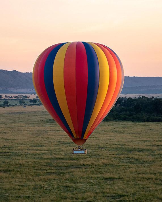 Hot air baloon ride at Governors Camps Safari